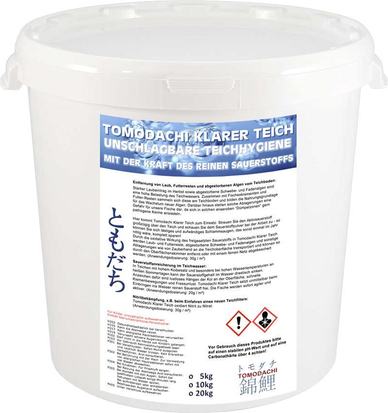 Algenfrei aktivsauerstoff laubfrei teichhygiene for Algenvernichter teich fische